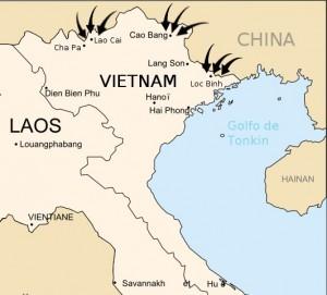 中国軍侵入ルート