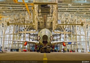 A350XWBの静荷重試験