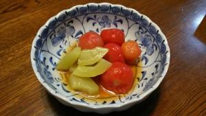 瓜とトマトの煮びたし