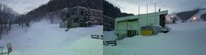 従業員用の駐車場とスキー場下部のデッドスペース