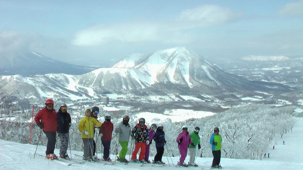 北海道・留寿都スキー場にて