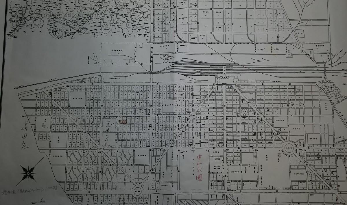 満州国奉天市の古地図
