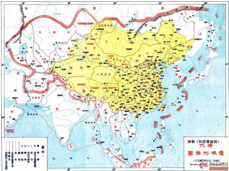 清王朝の最大版図