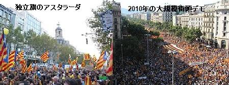 独立旗と大規模デモ