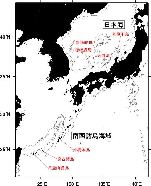太平洋マグロ産卵場所_水産庁調査結果