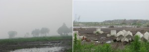 仙台⇒相馬への長い海岸線の被害の様子