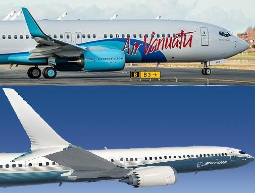 737NGと737MAXのエンジン位置比較